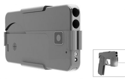 Smartphone gun – Palm-sized pistol looks like a mobile phone when folded up